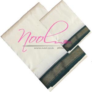 Art-Silk-Mundu-Cream-8x4-Mulam-5-Mayilkan-Angavastram-DHO.43