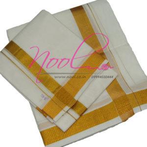 NoolIndian-White-Cotton-Men-Dhoti-8-Mulam-1-Inch-Handloom-Zari-Angavastram-DHO.7
