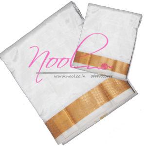 Venpattu-Veshty-Cream-Pure-Silk-8-Mulam-80K-Gold-Zari-Border-Towel-SKS.DHO.30
