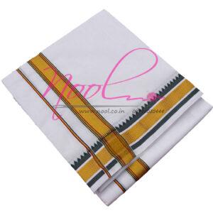 Panchakacham-Dhoti-White-Cotton-10x6-Mulam-5-Mayilkan-Towel-DHO.55