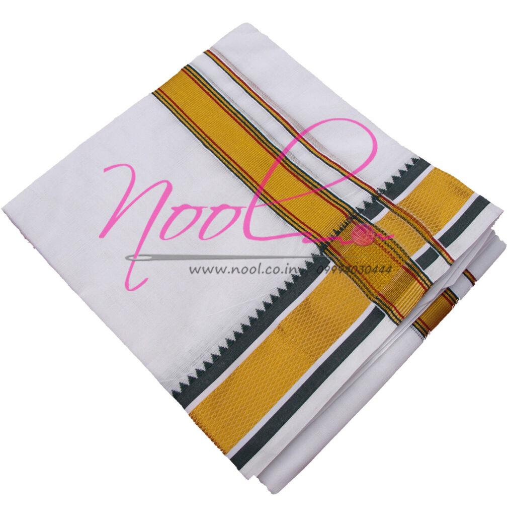 Priest-Dhoti-White-Cotton-10x6-Mulam-9-Mayilkan-Zari-Handloom-DHO.57
